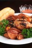 Jantar grelhado da galinha Fotografia de Stock Royalty Free