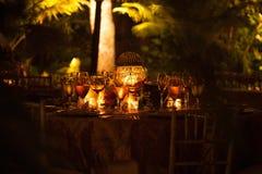 Jantar iluminado por velas Imagens de Stock Royalty Free