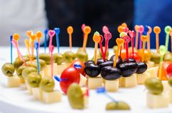 Jantar incrível e delicioso Foto de Stock Royalty Free