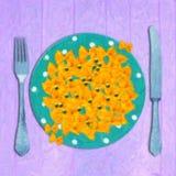 Jantar italiano Ilustração do Vetor