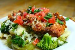 Jantar italiano com vegetais Imagens de Stock Royalty Free