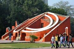 Jantar Mantar在新德里,印度 库存图片