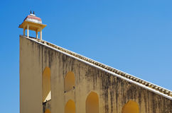 Jantar Mantar天文学观测所在Japiur,印度 免版税库存图片