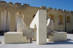 Jantar Mantar astronomical observatory in Japiur, India Royalty Free Stock Images