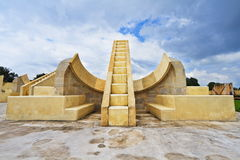 Jantar Mantar Observatory. The Jantar Mantar is a collection of architectural astronomical instruments.Jaipur,Rajasthan royalty free stock photos