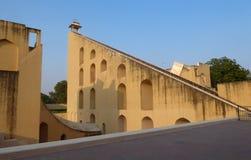 Jantar Mantar, complejo de arquitecturas con la función de instrumentos astronómicos en Jaipur, la India imagen de archivo libre de regalías
