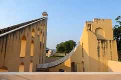 The Jantar Mantar, complex of architectures with the function of astronomical instruments in Jaipur, India royalty free stock images