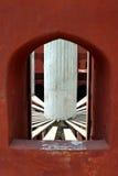 Jantar mantar, delhi, detail. Jantan mantar is an observatory consisting of masonry-built astronomical Stock Image