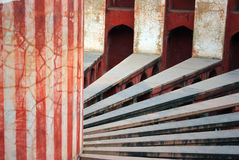 Jantar Mantar, Delhi interior radials and column Stock Image