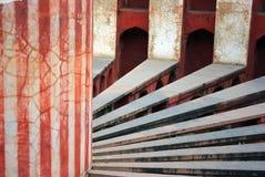 Jantar Mantar, Delhi interior radials and column Stock Image