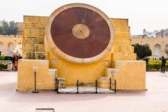 Jantar Mantar, Jaipur. JAIPUR, INDIA - JAN 19, 2016: Jantar Mantar, Jaipur a collection of 19 architectural astronomical instruments built by the Rajput king stock photos