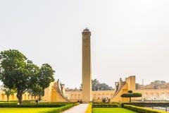 Jantar Mantar, Jaipur. JAIPUR, INDIA - JAN 19, 2016: Part of thr Jantar Mantar, Jaipur a collection of 19 architectural astronomical instruments built by the stock photography