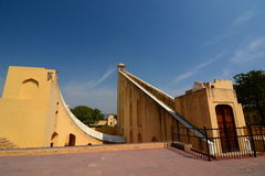 Jantar Mantar. Jaipur. Rajasthan. India. The Jantar Mantar is a collection of architectural astronomical instruments, built by the Maharajah of Jaipur Royalty Free Stock Photography
