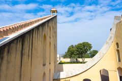 Jantar Mantar observatorium, Jaipur, Indien Royaltyfria Foton
