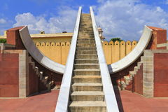 Jantar Mantar Observatory. The Jantar Mantar is a collection of architectural astronomical instruments.Jaipur,Rajasthan royalty free stock photography