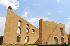 Jantar Mantar Observatory in Jaipur, consists of architectural a. Stronomical instruments. Taken in India, August 2018 stock photography