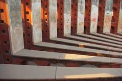 Jantar Mantar, sombras interiores do assoalho dos radiais de Delh Foto de Stock