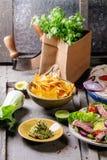 Jantar mexicano do estilo imagens de stock