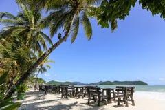 Jantar na praia Foto de Stock
