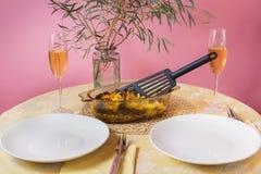 Jantar ou almoço romântico para dois fotos de stock
