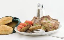 Jantar para dois em uma bandeja Fotografia de Stock Royalty Free