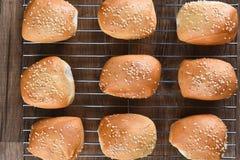Jantar Rolls da semente de sésamo Imagens de Stock