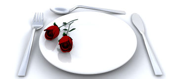 Jantar romântico ilustração royalty free