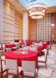 Jantar salão do hotel Fotografia de Stock