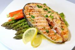 Jantar Salmon Fotografia de Stock Royalty Free