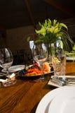 Jantar-tabela Fotografia de Stock Royalty Free
