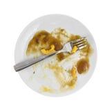 Jantar terminado do macarrão e do queijo de bife de Salisbúria imagens de stock