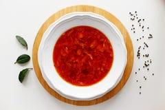 jantar vermelho do alimento fotografia de stock