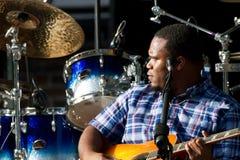 Jantovious Willis en el ` s SummerStage - 8/13/2017 del Central Park Imagen de archivo libre de regalías