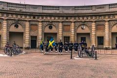 21. Januar 2017: Ändern des Schutzes im königlichen Palast von S Stockbild