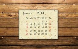 Januar 2014 Lizenzfreies Stockfoto