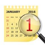 Januar 2016 Stockfotografie