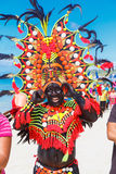 10. Januar 2016 Boracay, Philippinen Festival ATI-Atihan U Stockfotografie