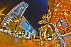1. Januar 2014 Charlotte, nc, USA - Nachtleben um charlot Lizenzfreie Stockfotografie