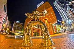 1. Januar 2014 Charlotte, nc, USA - Nachtleben um charlot Stockfoto