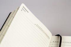 1. Januar erster Tag des neuen Jahres im Kalender Lizenzfreies Stockbild