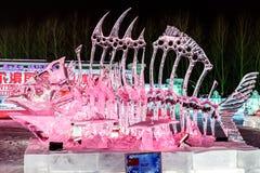 Januar 2015 - Harbin, China - internationales Eis und Schnee-Festival Stockfotos