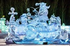 Januar 2015 - Harbin, China - internationales Eis und Schnee-Festival Stockfotografie