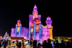 Januar 2015 - Harbin, internationales Eis und Schnee-Festival Lizenzfreie Stockbilder