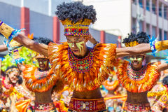 24. Januar 2016 Iloilo, Philippinen Festival Dinagyang Unid Lizenzfreie Stockbilder