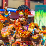 24. Januar 2016 Iloilo, Philippinen Festival Dinagyang Unid Lizenzfreies Stockfoto
