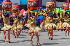 24. Januar 2016 Iloilo, Philippinen Festival Dinagyang Unid Stockbild