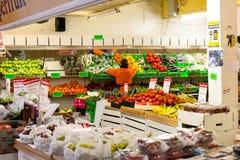 25. Januar 2017 Korken, Irland - englischer Markt, ein städtischer Lebensmittelmarkt in der Mitte des Korkens Stockfotografie