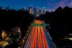 20. JANUAR 2019 LOS ANGELES, CA, USA - Pasadena-Autobahn Allee) (Arroyo Seco CA 110 f?hrt zu im Stadtzentrum gelegenes Los Angele lizenzfreie stockfotografie
