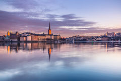 21. Januar 2017: Panorama der alten Stadt Stockholm genommenen Franc Lizenzfreies Stockbild