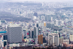 29. Januar 2016 Seoul, Republik Korea Seoul-Stadtbild, Skyline Stockfotografie